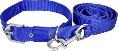 Manal Enterprises Dog Collar & Leash(Extra Small, Blue)