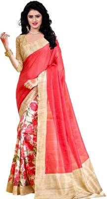 Trendz Style Printed Bhagalpuri Cotton Linen Blend Saree