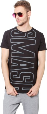Allen Solly Printed Men Round Neck Black T-Shirt  available at flipkart for Rs.540