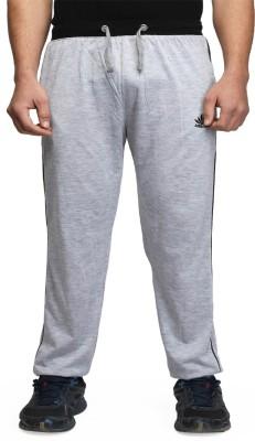 ABLOOM Solid Men's Grey Track Pants