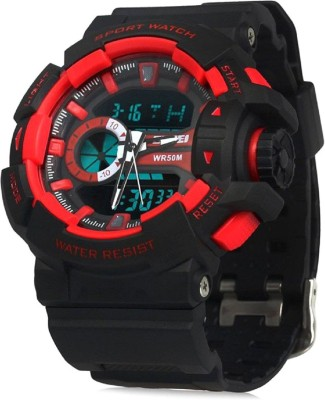 On Time Octus Combo Of G-29 Red Dial Analog Watch And Digital Rocket Shape. Watch  - For Men & Women