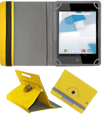 Fastway Book Cover for HP 8(Yellow, Cases with Holder, Artificial Leather)