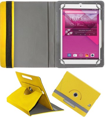 Fastway Book Cover for Alcatel POP 8(Yellow, Cases with Holder)