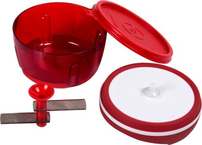 Tupperware Hand Rotating 300ML Chopper(Red)  available at flipkart for Rs.1050