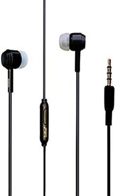 Apro Black earphone Wired Headphone(Black, In the Ear)
