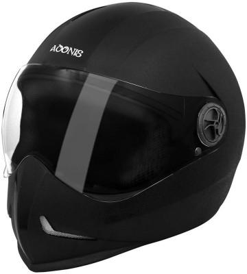 Steelbird Adonis Dashing Motorbike Helmet(Black-silver)  available at flipkart for Rs.950