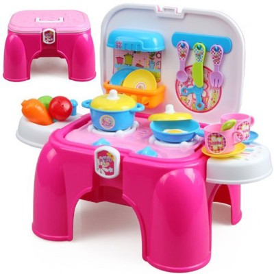 Techhark Kids Kitchen Set Pretend Play Battery Operated Toy Set Multi Color Buy At The Price Of 38 65 In Flipkart Com Imall Com