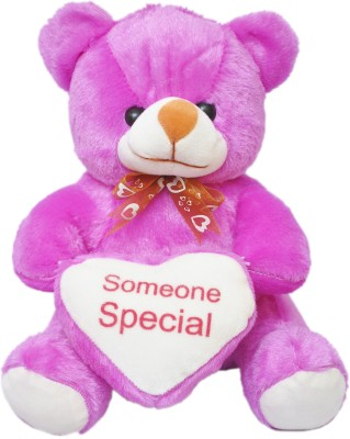 Kidz Zone Purple Someone Special Soft Teddy Bear  - 25 cm(Purple)  available at flipkart for Rs.349