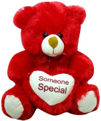 Kidz Zone Red Someone Special Soft Teddy Bear  - 25 cm(Red)  available at flipkart for Rs.349