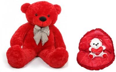 Red Teddy Bear 5 Feet, 68 Off On Avs Combo Of 5 Feet Teddy Bear Soft Heart With Cute Teddy Bear Red Color 152 Cm Red On Flipkart Paisawapas Com
