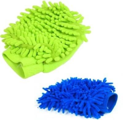 Trendmakerz Microfiber Vehicle Washing Hand Glove Pack Of 2