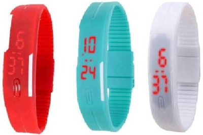 VITREND (R-TM) New Model Latest Trend Technology Silicone LED Digital Combo (Sent as per Available Any Colour in Stock(Blue/Black/Yellow/White/Pink/Red/Orange)) Pack of 3 Watch  - For Boys & Girls