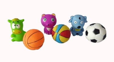 om enterprise Animal character with playing squeeze balls bath Toy Bath Toy(Multicolor)