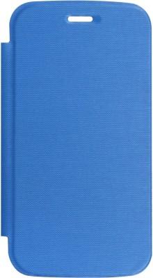 DMG Flip Cover for Micromax A110 Canvas 2(Royal Blue, Plastic)