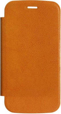 DMG Flip Cover for Micromax A110 Canvas 2(Orange, Plastic)