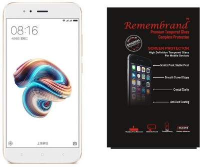 Remembrand Tempered Glass Guard for Mi A1 Pack of 1