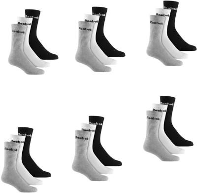 REEBOK Men's & Women's Ankle Length Socks(Pack of 18)