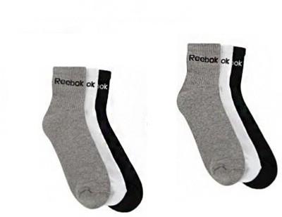 REEBOK Men's & Women's Ankle Length Socks(Pack of 6)