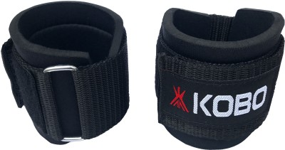 Kobo Power Weight Lifting Training Gym Straps Dumbbell Hook Support Wrist Support (M, Black)