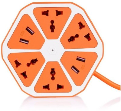 A-ONE RETAIL USB Charger Power Multi Switch Socket Universal 4 Port 2.1 Amp USB Charger(Orange, White)  available at flipkart for Rs.649
