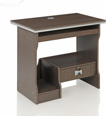 RoyalOak Acacia Engineered Wood Computer Desk(Straight, Finish Color - Chocolate)