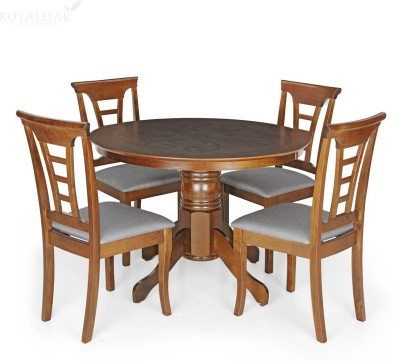 Berlynoak Cherry Engineered Wood 4 Seater Dining Set(Finish Color - Cappuccino)