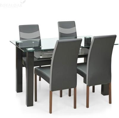 38 Off On Royaloak Aqua Glass 4 Seater Dining Set Finish Color