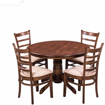 RoyalOak COCO Solid Wood 4 Seater Dining Set(Finish Color - Walnut)