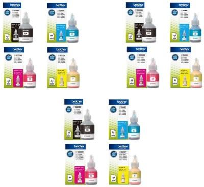 Brother Brother Ink Pack Of 3- BT6000BK, BT5000C, BT5000M, BT5000Y Multi Color Ink Cartridge(Black, Magenta, Yellow, Cyan)