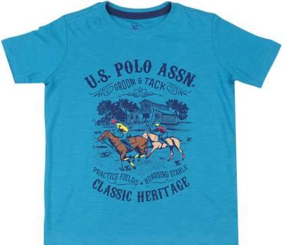 US Polo Kids Boys Printed Cotton T Shirt