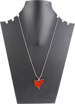 estore love heart couples pandent with chain necklace Metal Locket  available at flipkart for Rs.249