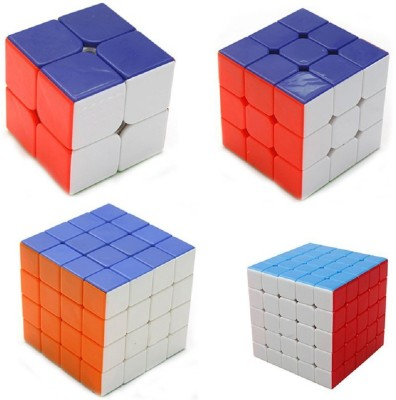 Emob High Speed Stickerless Magic Rubik Cube Combo Set Of 4 (2x2 , 3x3, 4x4, 5x5) Puzzle Brainstorming Game Toy(4 Pieces)  available at flipkart for Rs.990