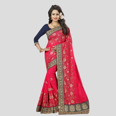 Viva N Diva Embroidered Bollywood Georgette Saree