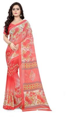 Fabcartz Floral Print Bollywood Georgette Saree(Multicolor)
