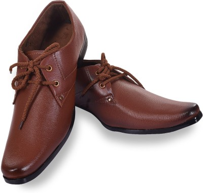 ROAD STAG Men,s Mid-Top Formal Shoes (Brown) Lace Up For Men(Brown)