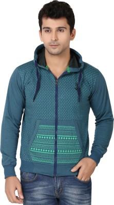 Ico Blue Star Full Sleeve Printed Men's Sweatshirt