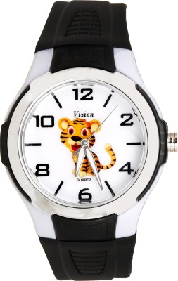 Vizion V-8826-1-1 Simba-The Little Tiger Cartoon Character Analog Watch For Kids