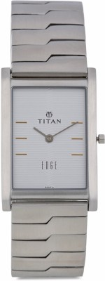 Titan Edge NH1043SM14 Analog White Dial Men's Watch (NH1043SM14)