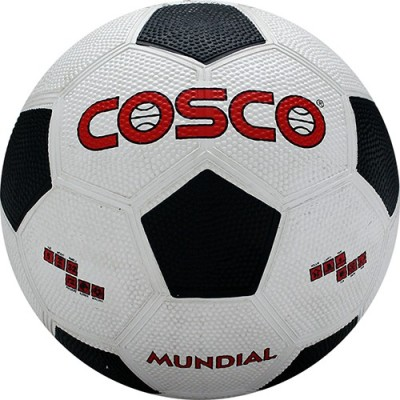 Cosco Mundial Football   Size: 5 Pack of 1, White, Brown