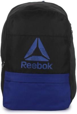 REEBOK Kid Pencl Case 18 L Backpack(Black, Blue)