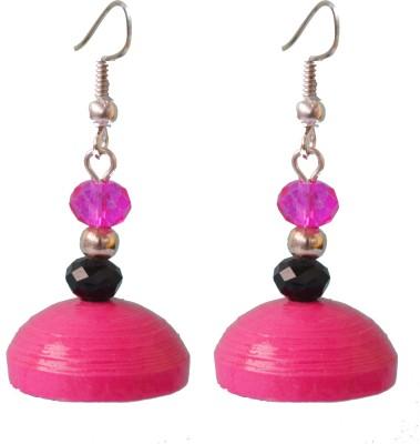 Kaagitham Kaagitham pink everyday wear dangler paper jhumkas Paper Jhumki Earring  available at flipkart for Rs.260