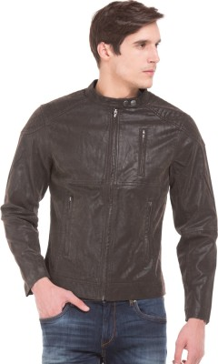 Flying Machine Full Sleeve Solid Men Riding  Jacket
