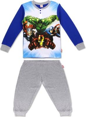 Marvel Boy's Casual Top Track Pants(Multicolor)