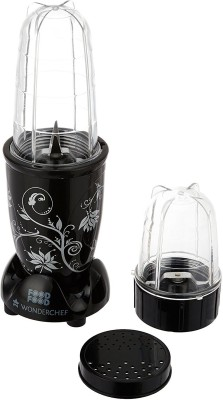 Wonderchef Nutri Blend 400 W Juicer Mixer Grinder(Black, 2 Jars)