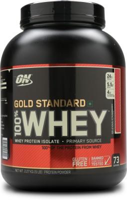 Optimum Nutrition Gold Standard 100% Whey Protein(2.27 kg, Strawberry Banana)