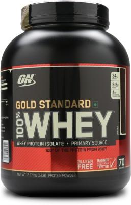 Optimum Nutrition Gold Standard 100% Whey Protein(2.27 kg, Coffee)