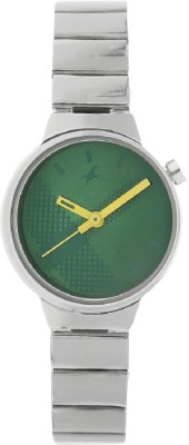 Image of Fastrack Checkmate Green Dial Analog Watch - For Girls
