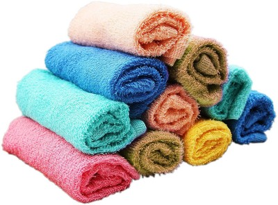 Skumars Love Touch Cotton 150 GSM Face Towel Set Pack of 10