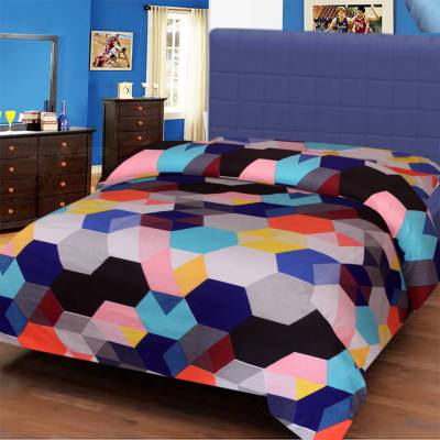 IWS Polyester Geometric Single Bedsheet