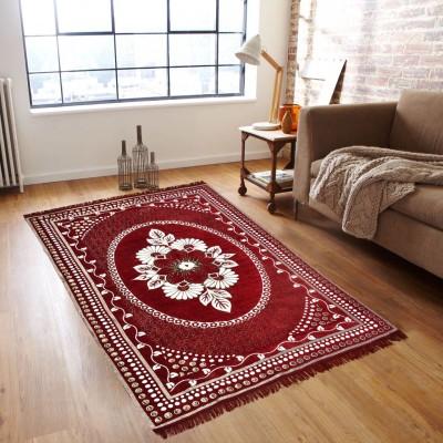 Shobhraj Maroon Chenille Carpet(151 cm  X 213 cm) at flipkart